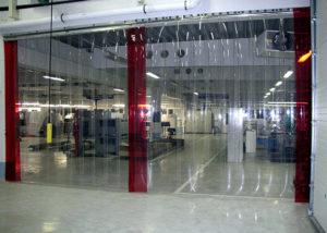 Применение прозрачных гладких ПВХ завес