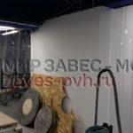 Монтаж полосовых завес ПВХ при производстве мебели