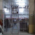 Разделение помещений на рабочие зоны полосовыми завесами ПВХ